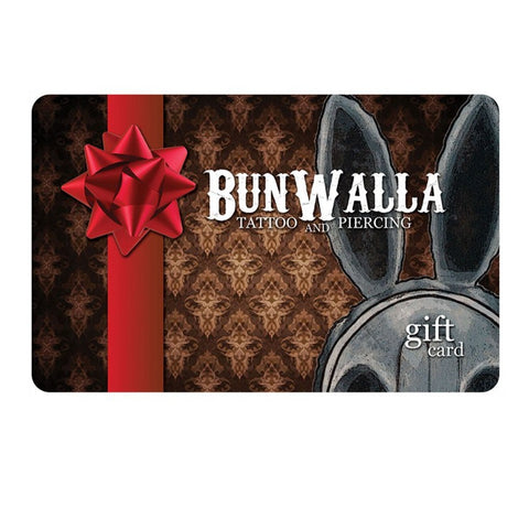 Gift Card for Tattoos & Piercings at BunWalla Tattoo