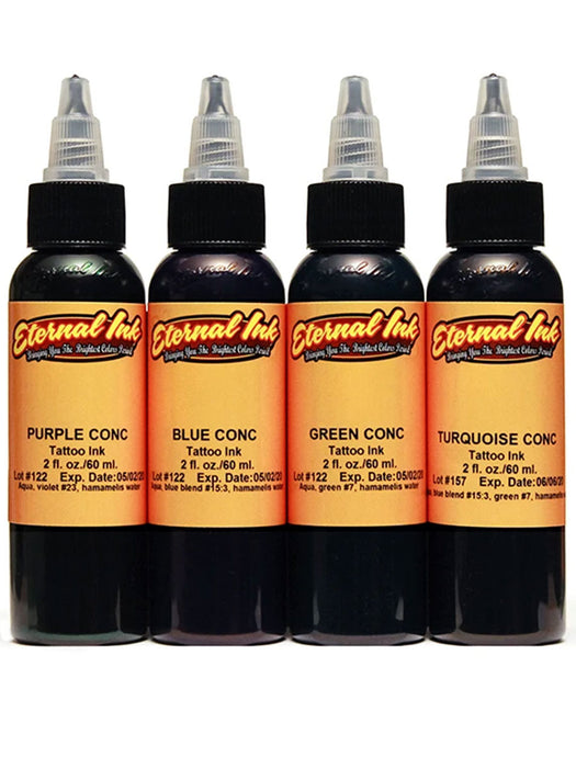 Concentrates 4ct 1/2oz Set by Eternal Ink - Bloody Wolf Tattoo Supply