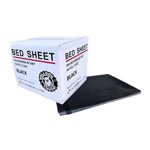 "Drape Sheets - Black 40"" x 90"" - Bloody Wolf Tattoo Supply"