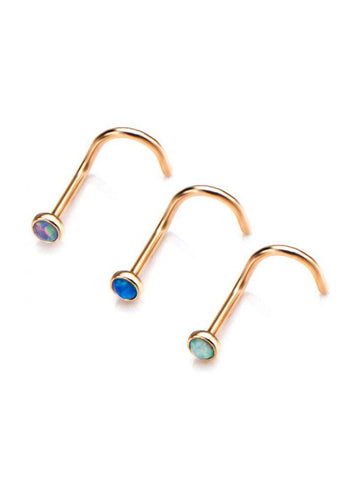 Nose Screw - Opal Gold