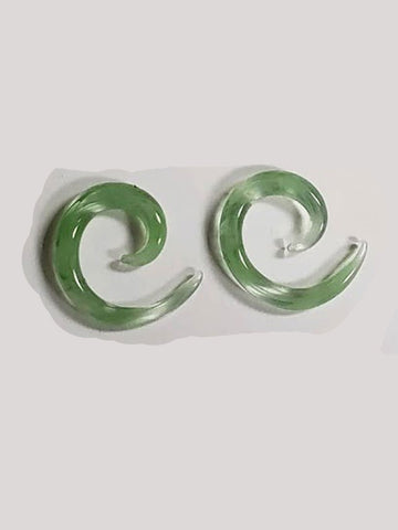 Green Spiral 4g Glass Plugs