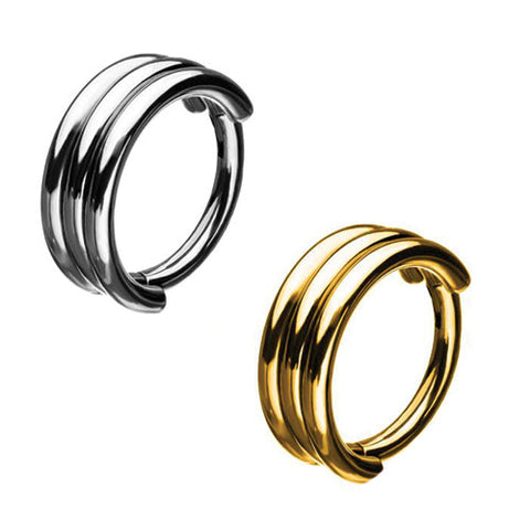 Triple Stack Hinged Segment Ring
