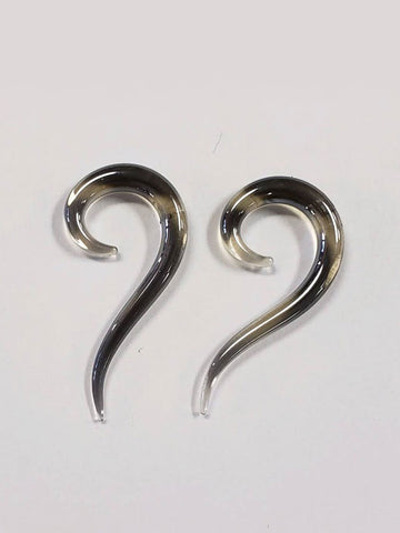 Question Mark Black 6g Glass Plugs