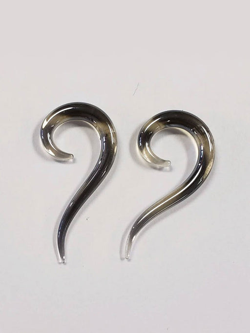 Question Mark Black 6g Glass Plugs - Bloody Wolf Tattoo Supply