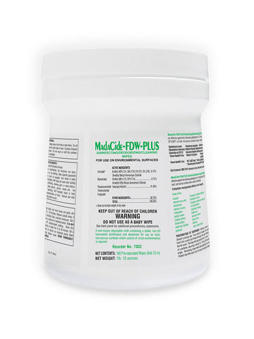 MadaCide FDW Plus 160ct Wipes
