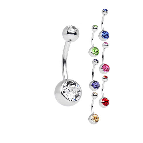 Navel Jeweled Barbell - Bloody Wolf Tattoo Supply
