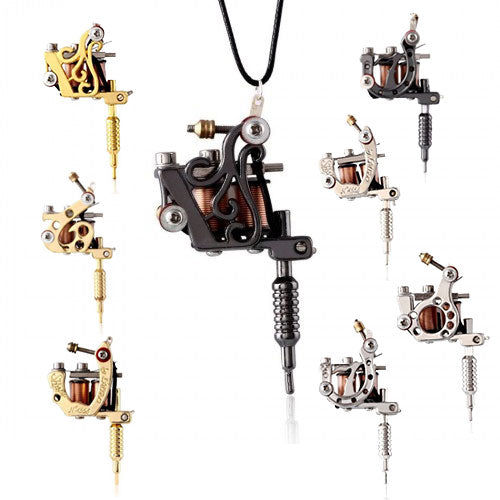 Mini Tattoo Machine Necklace - Bloody Wolf Tattoo Supply