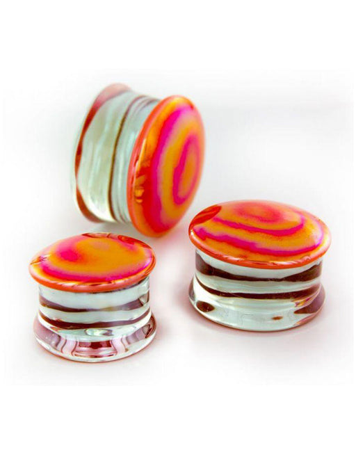 Glass Plugs - Creamsicle - Bloody Wolf Tattoo Supply