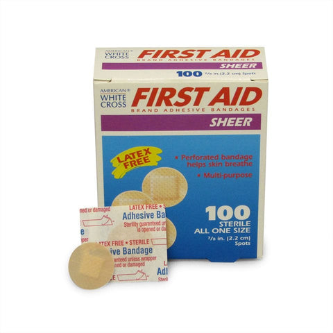 "Mini 1"" Round Sheer Adhesive Bandages 100ct"