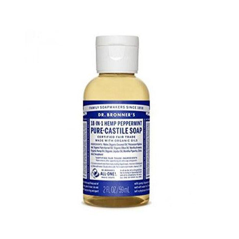 Dr. Bronner's Peppermint 2oz Castile Soap - Bloody Wolf Tattoo Supply