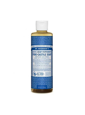 Dr. Bronner's Peppermint 8oz Castile Soap