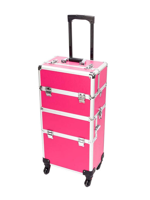Rolling Travel Case - Hot Pink - Bloody Wolf Tattoo Supply