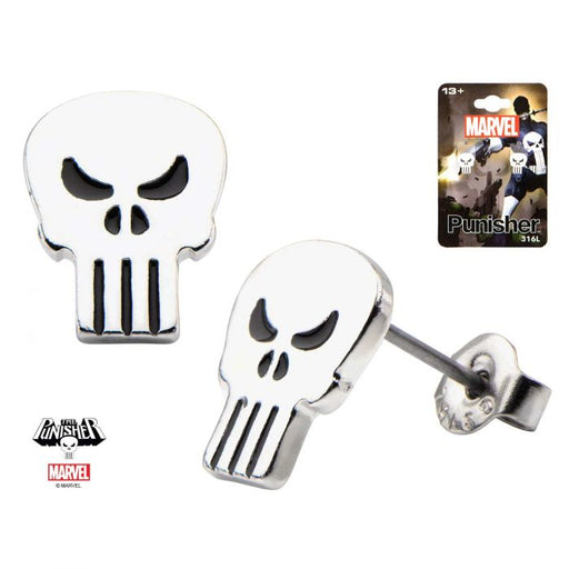 Marvel Punisher Steel Earrings - Bloody Wolf Tattoo Supply
