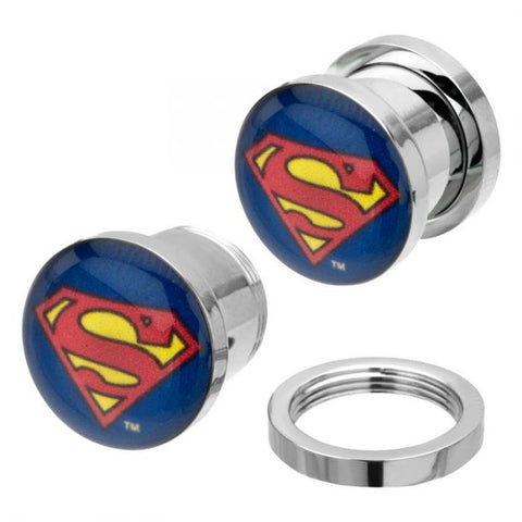 DC Comics Multi Color Superman Logo Screw Fit Plug