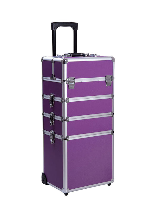 Rolling Travel Case - Purple - Bloody Wolf Tattoo Supply