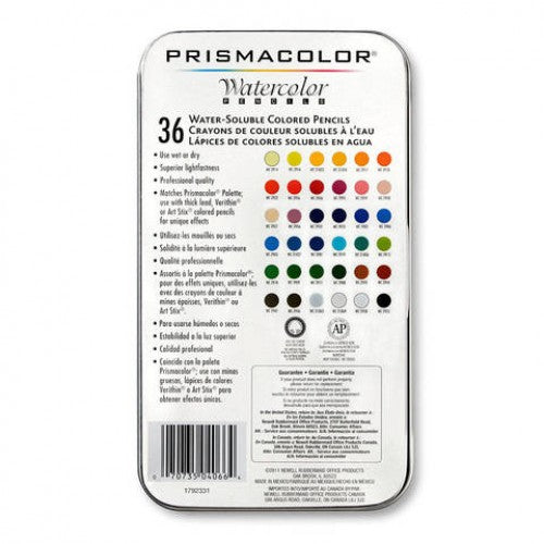 Prismacolor Watercolor Pencils 36ct Set - Bloody Wolf Tattoo Supply