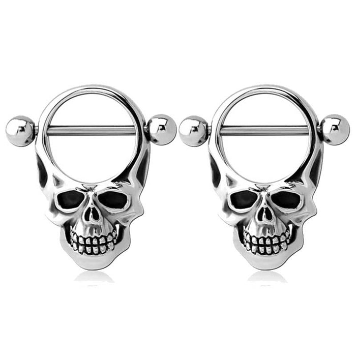 Skull Nipple Barbells - Bloody Wolf Tattoo Supply