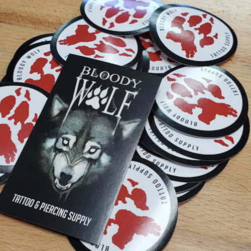 Sticker - Bloody Wolf Tattoo Supply - Bloody Wolf Tattoo Supply