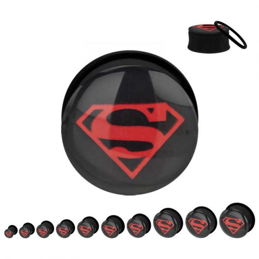 DC Comics Red Superman Screw Fit Plugs - Bloody Wolf Tattoo Supply