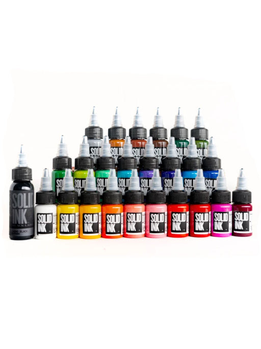 Solid Ink 25 Color Travel 1/2oz Set - Bloody Wolf Tattoo Supply