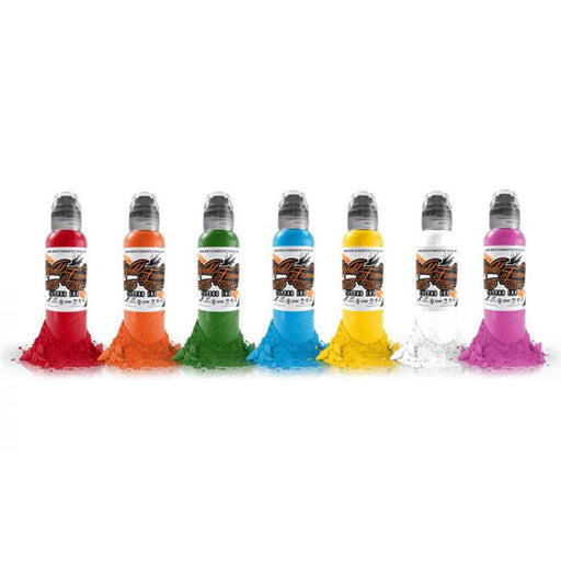 Simple Color 6ct 1oz Set by World Famous Ink - Bloody Wolf Tattoo Supply