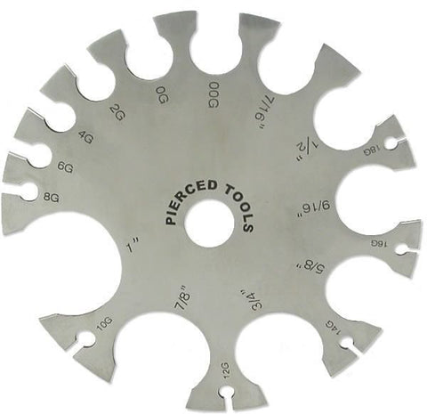 Body Jewelry Wheel Gauge