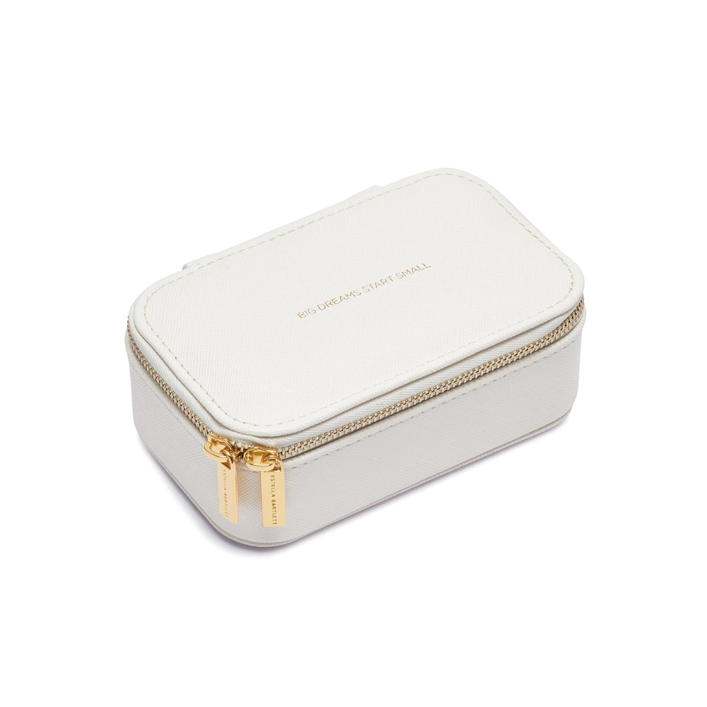 Mini Jewelry Box - White - Big Dreams Start Small