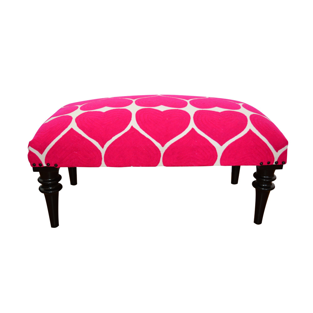 Love Heart Upholstered Bench