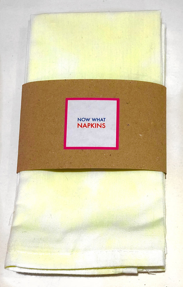 Set of Four Napkins -Yellow Tie Dye