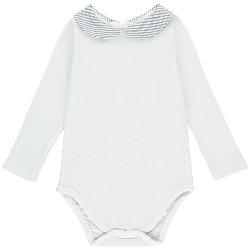 Stripe Collar Babygrow
