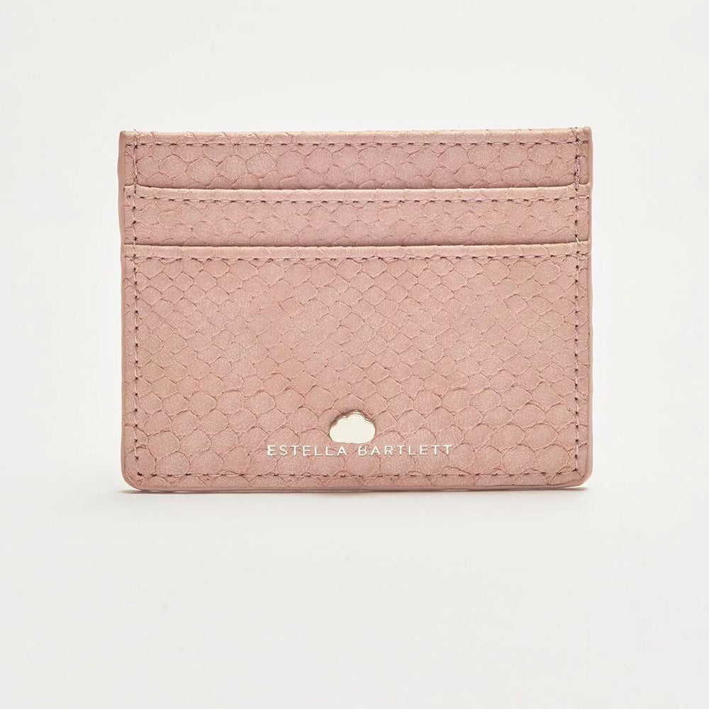 Card Holder Blush Snake Print