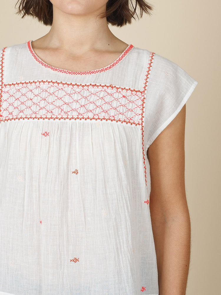 Pink Dotty Top with Lace Detail