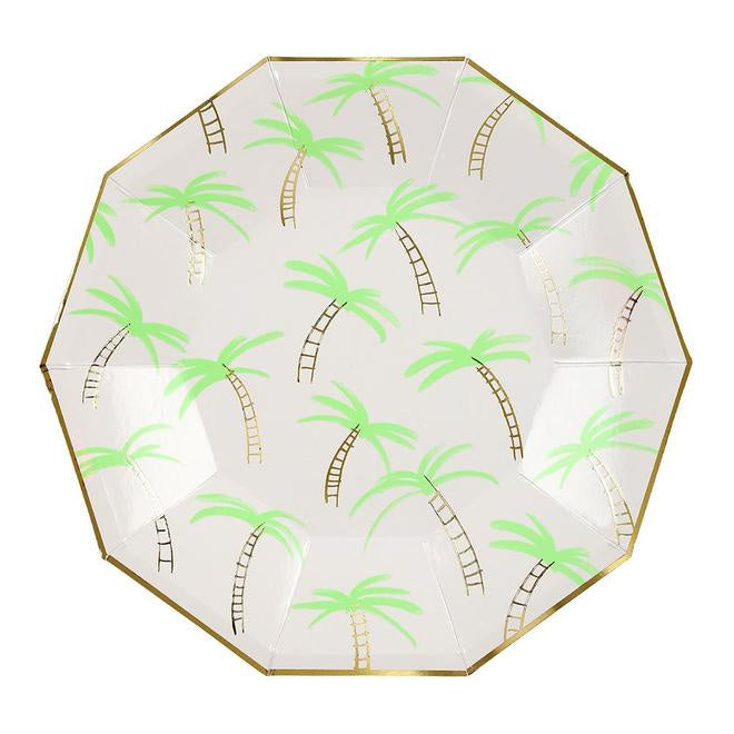 Palm Tree Plates Large