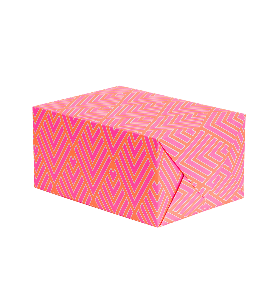 Neon Feather Gift Wrap