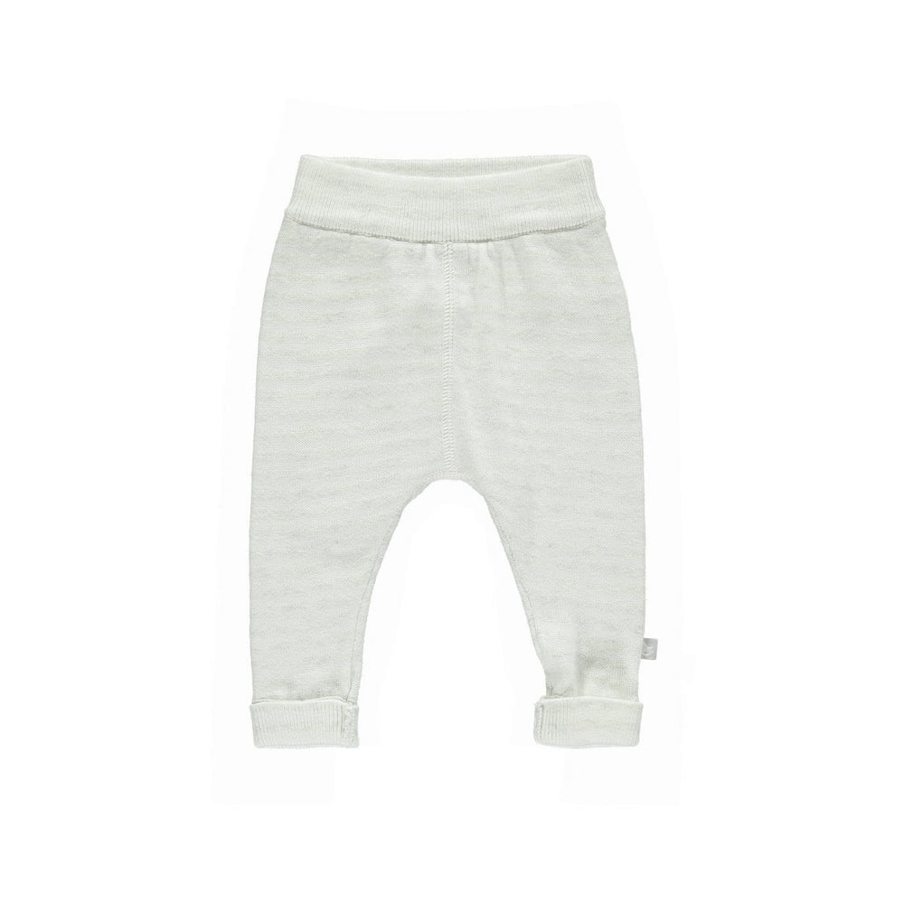 Knitted Cashmere Mix Trousers - Stripe Soft Grey/White: 0-3M