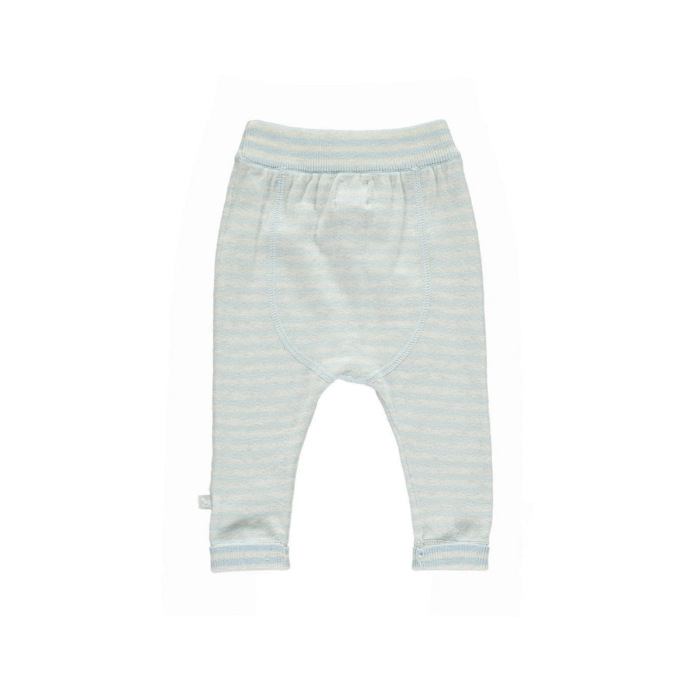 Knitted Cashmere Mix Trousers - Stripe Blue / Grey