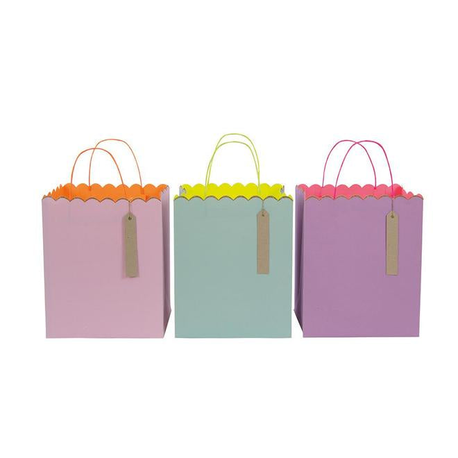 Pastel and Glitter Gift Bags-Large
