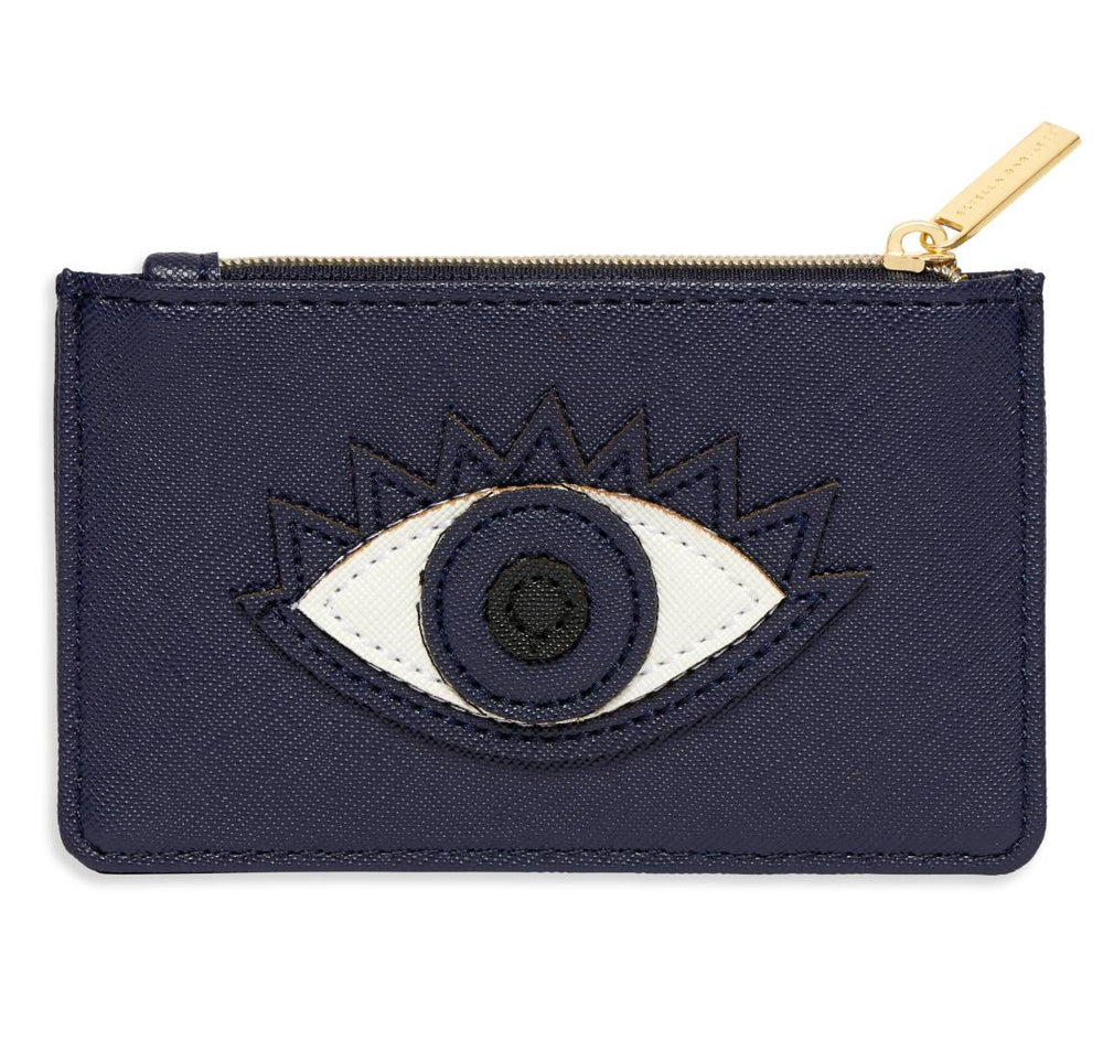 Lucky Eye Applique Card Purse