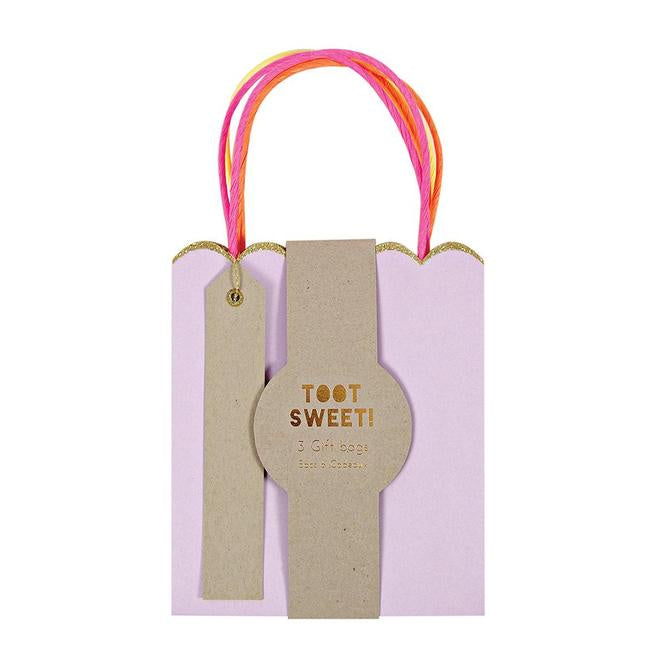 Pastel and Glitter Gift Bags-Small