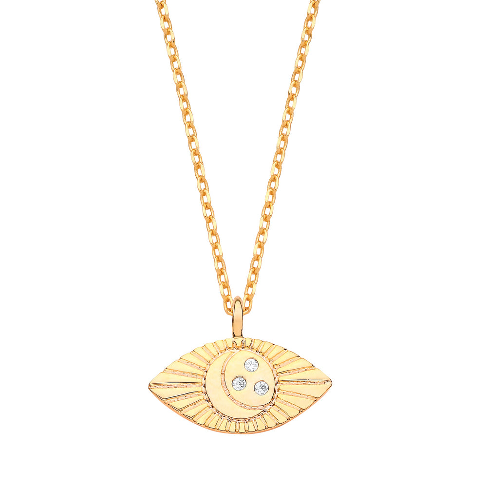 Just Imagine Gold Necklace Aztec Eye