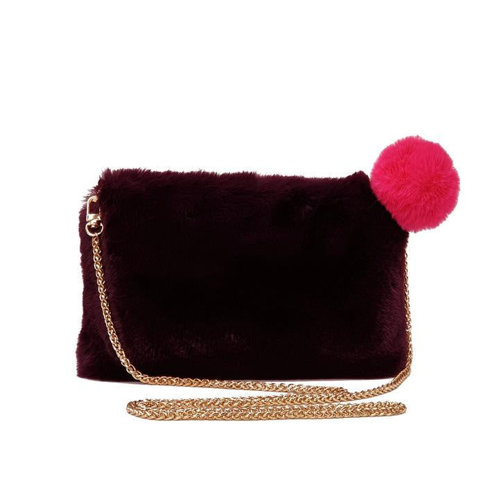 Stella Clutch-Burgundy