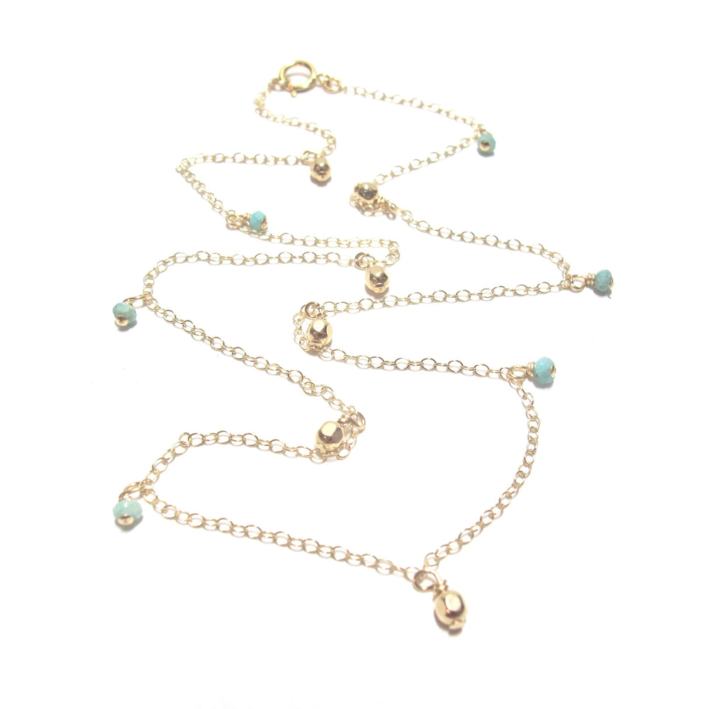 Amazonite Coloured Stone Necklace