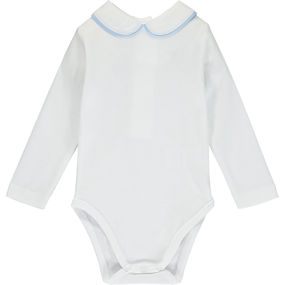Peter Pan Collar Babygro-Baby Blue
