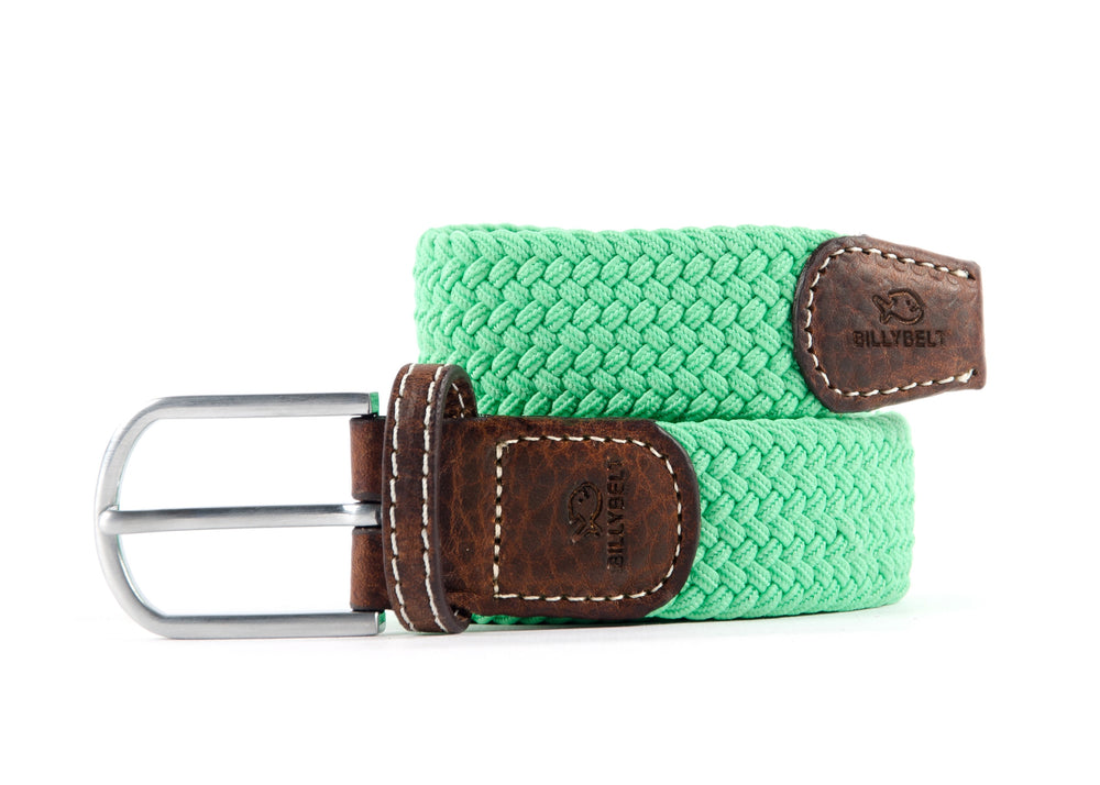 Mens Braid Belt: Mint Green