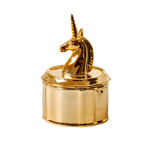 Porcelain  Unicorn Jewellery Box- Gold