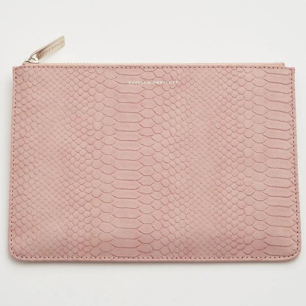 Medium Pouch Blush Snake