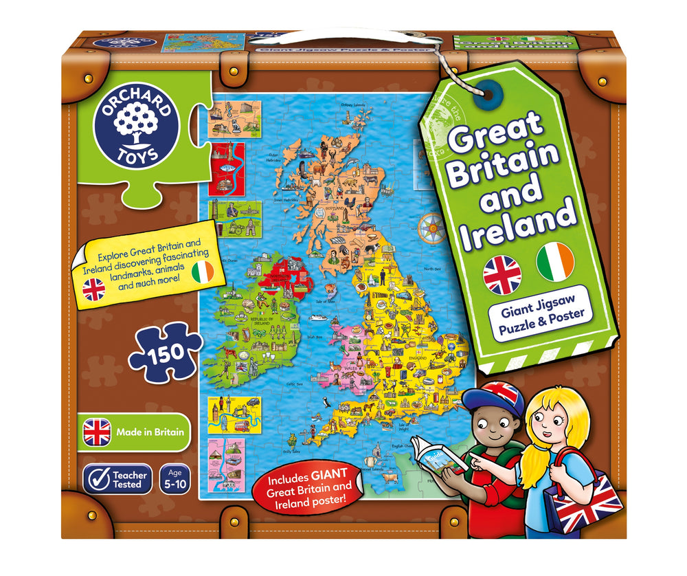 Great Britain and Ireland Giant Jigsaw Puzzle