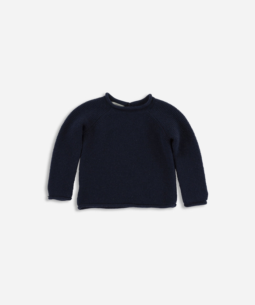 Mini Garter Jumper - French Navy
