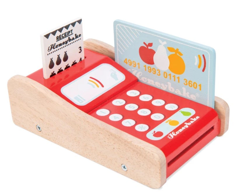 Wooden Toy Card Machine