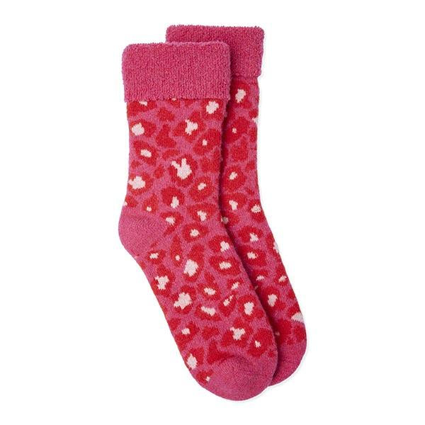 Pink Leopard Slipper Socks